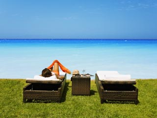 SunPrime Miramare Beach: Villas terrace