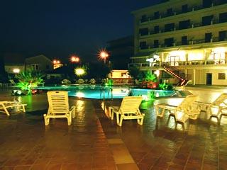 Orfeas Hotel - Swimming Pool at night