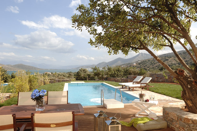 Elounda Carob Valley Villas Exterior View Pool
