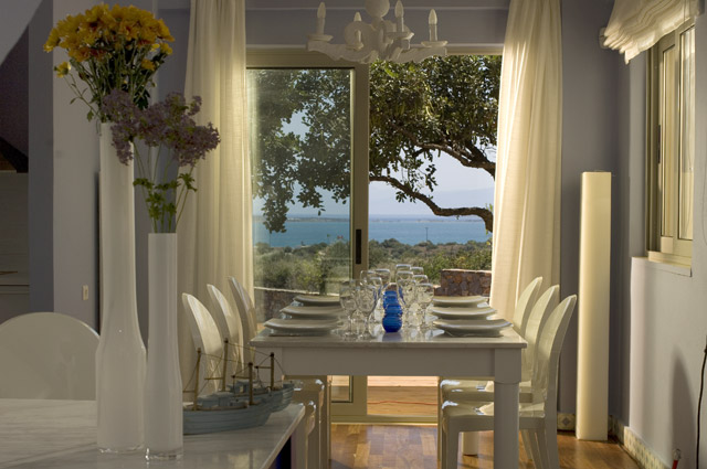 Elounda Carob Valley Villas Dining Area