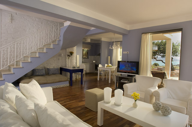 Elounda Carob Valley Villas Living Room