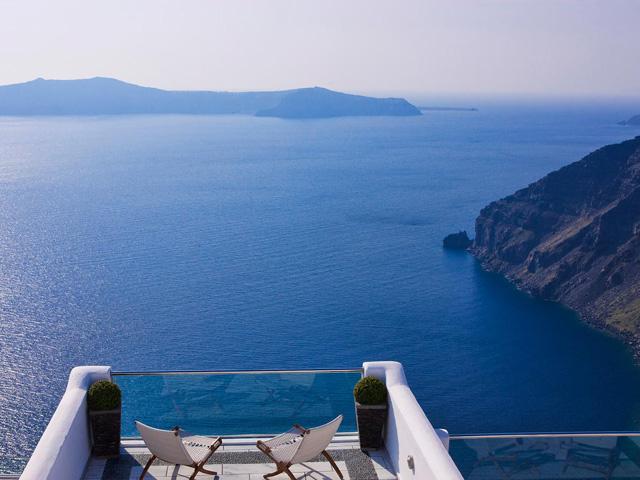 Belvedere Suites Santorini: Balcony