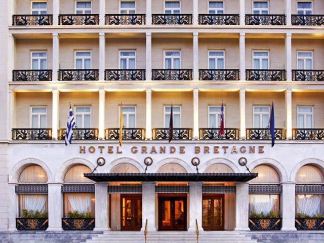 Grande Bretagne Hotel Entrance