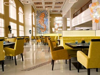The Westin Dubai Mina Seyahi Beach Resort & Marina: Blue Orange Restaurant