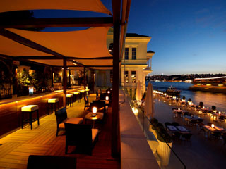 Ajia Hotel: Terrace Bar Bosphorus View