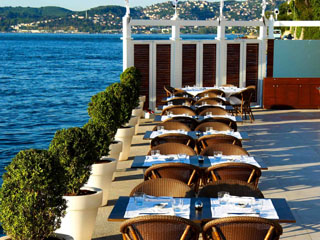 Ajia Hotel: Restaurant Bosphorus View