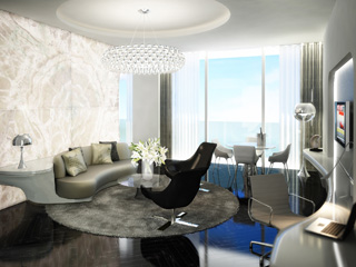The Yas Hotel: Executive Suite Livingroom