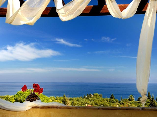 Bozonos Luxury Villas - Balcony view