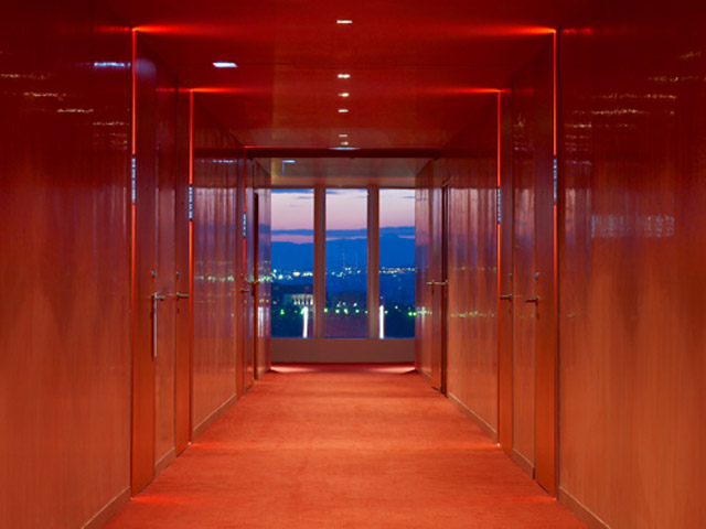 W Barcelona: Coral Red- Corridors