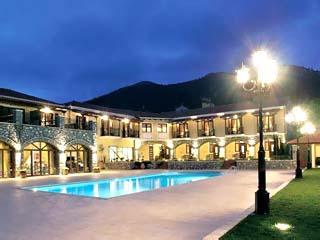 Arhontiko Kaltezioti Country Club Hotel - Swimming Pool at night