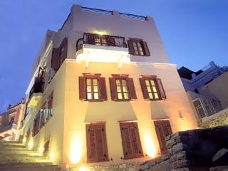 Arion Luxury Xenonas - Exterior View at Night