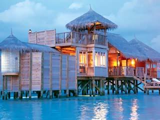Soneva Gili Resort & Six Senses SpaVilla Suite evening