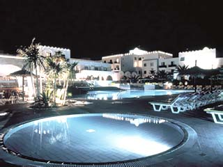 Oceanis Beach Resort Hotel Adults OnlySwimming Pool at night