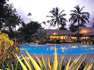 Senggigi Beach HotelMain Swimming Pool at night