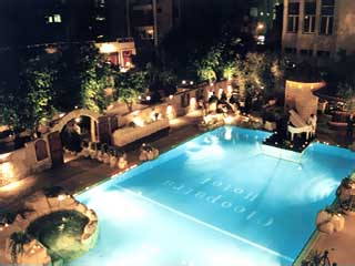 Cleopatra HotelSwimming Pool at night