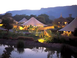 The Oberoi VanyavilasA view of the luxury tent