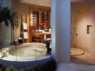 Rosewood MayakobáSuite Indoor outdoor bath & shower
