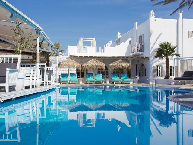 Mykonos Palace Beach Hotel, 4 Etoiles hôtel de luxe à Platis ...