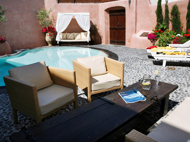 Villa Io: Exterior View Pool Area