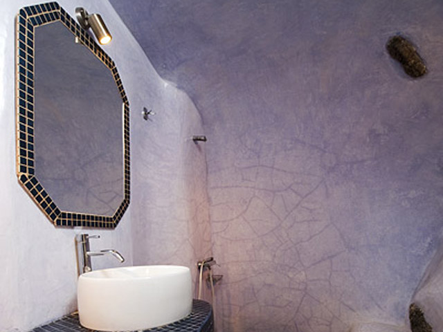 Vinsanto Villas - Senior Cave Suite- bathroom
