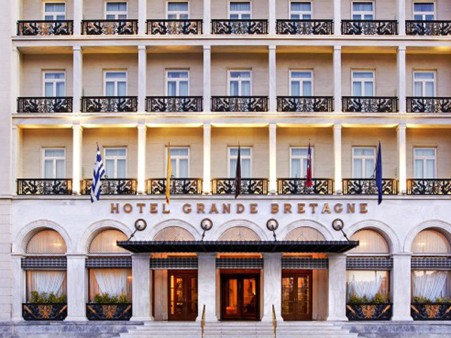 Grande Bretagne Hotel - Grande Bretagne Hotel Entrance