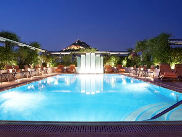 Grande Bretagne Hotel - Grande Bretagne Hotel Lycabettus Hill view - Pool