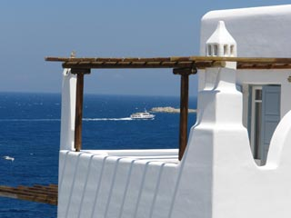 Luxury Villas Mykonos: View From Balcony