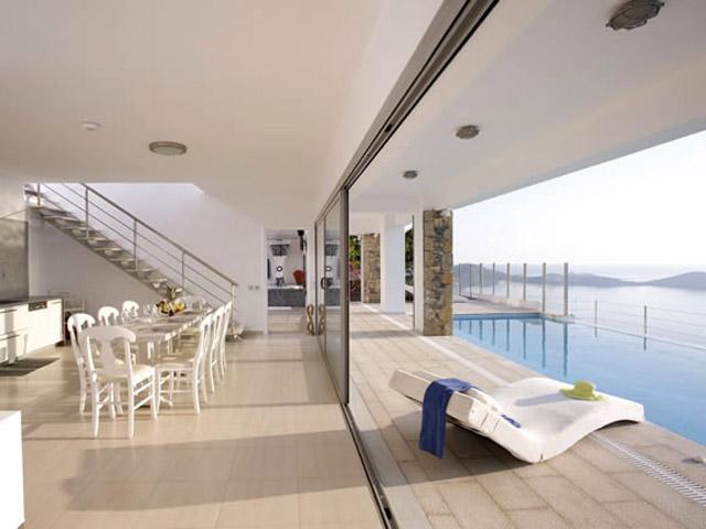 Elounda Villa Sapphire (Zafira): Villa Sapphire Exterior View Pool Area