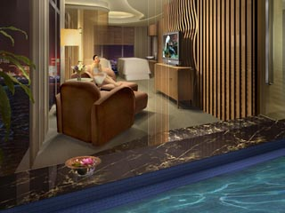 Gran Melia ShanghaiVip massage room