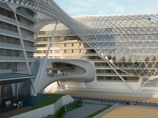The Yas HotelInterbuilding connecting bridge