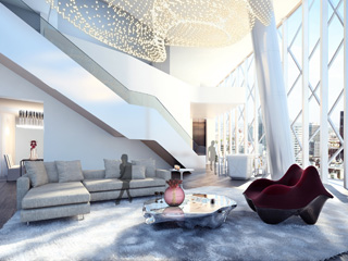 The Yas HotelPresidential Suite Livingroom