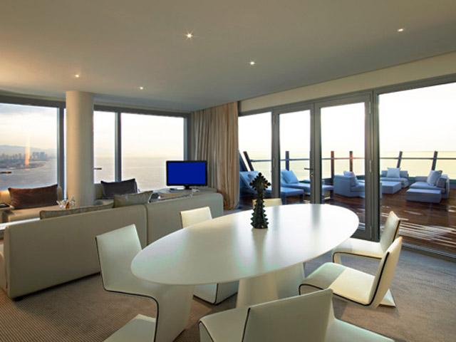 W Barcelona - Spectacular Suite- Living Room