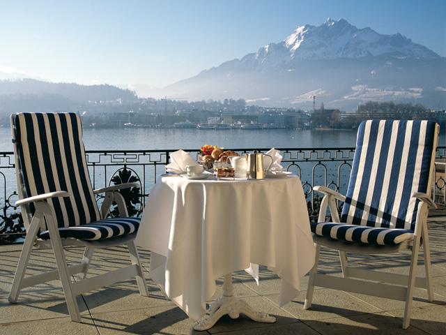 Palace Luzern: Balcony