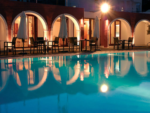 Kallisti Thera HotelSwimming Pool Night view