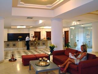 Santorini Image Hotel: Lobby - Reception