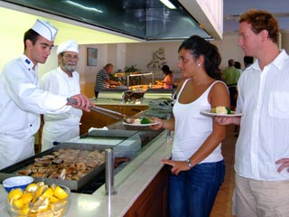 Santorini Image Hotel: Show Cooking