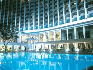 Athens Hilton HotelSwimming Pool at night