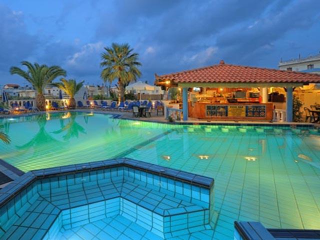 Malia mare hotel hotels malia heraklion crete greece for Blue sea motor inn