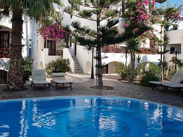 Veggera Hotel, hotels Perissa, Santorini, Cyclades Islands, Greece